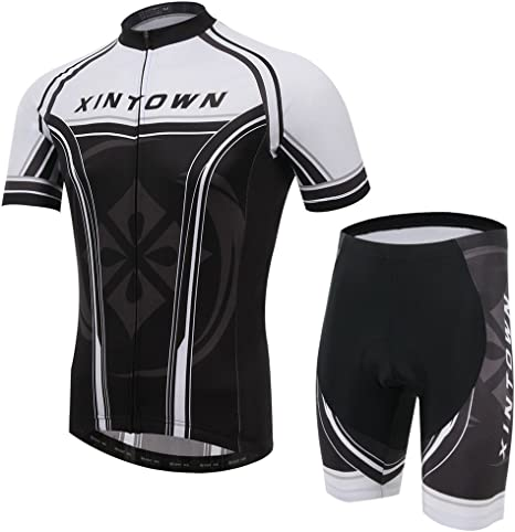 Pinjeer 2018 Black And White Design 100 Polyester Summer Men S Cycling Jersey Clothing Breathable And Quick Dry Mountain Bike Jersey Men Boys Shorts Sets Excellent Elasticity Team Bike Clothes Amazon Co Uk Sports Outdoors