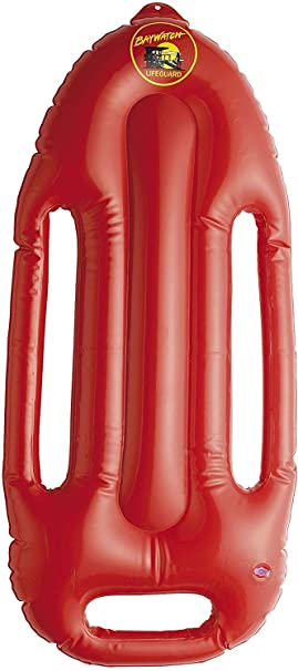 SmiffyS- Baywatch Lifeguard Flotador Inflable De Con Correa Y Logotipo, Color rojo, 70 cm (Smiffys 38085)