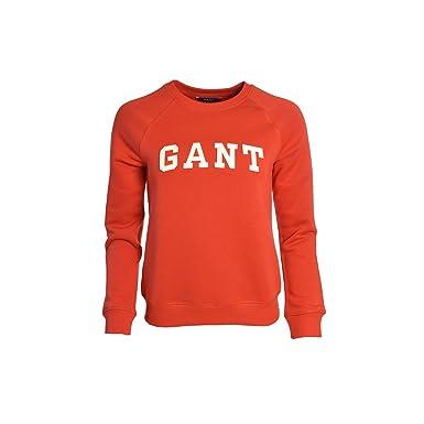 f62241fd5f951 Amazon.com: GANT - Sweat Orange Crewneck Pour Femme - Rouge, L: Clothing