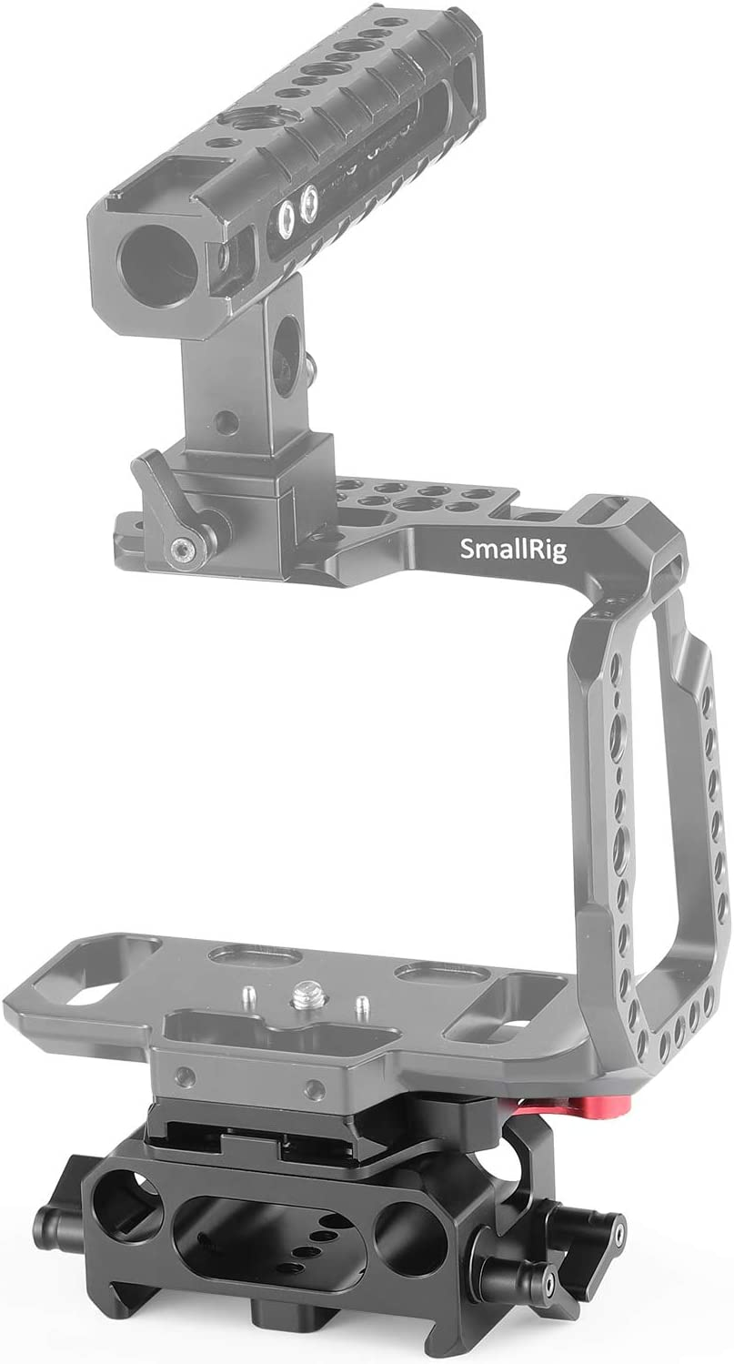 SMALLRIG BMPCC Baseplate for Manfrotto 501PL Compatible with Black Design Pocket Cinema Camera 4K /& 6K 2266