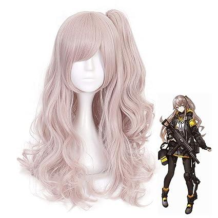 Larga y rizada peluca ondulada para mujer Anime Cosplay ...