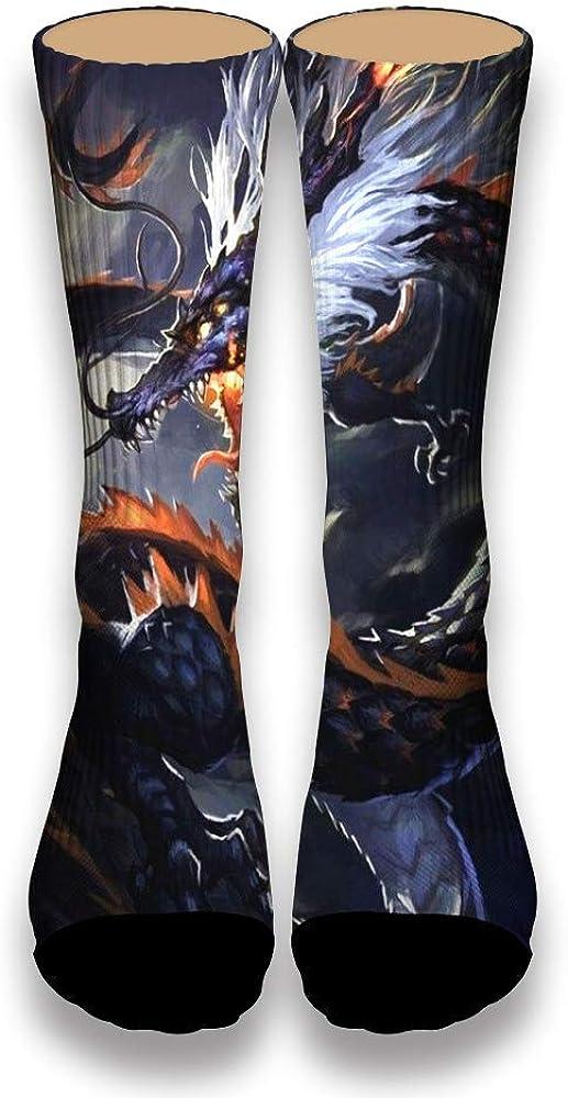 Dragon Looking up at the Rky Roaring AlyGoo 3D Print Funny Custom Crew Casual Socks