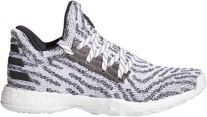 desesperación pescado Deformar  Amazon.com | adidas Harden Vol. 1 LS Primeknit Shoe Juniors Basketball 4  White-Core Black-Grey | Basketball