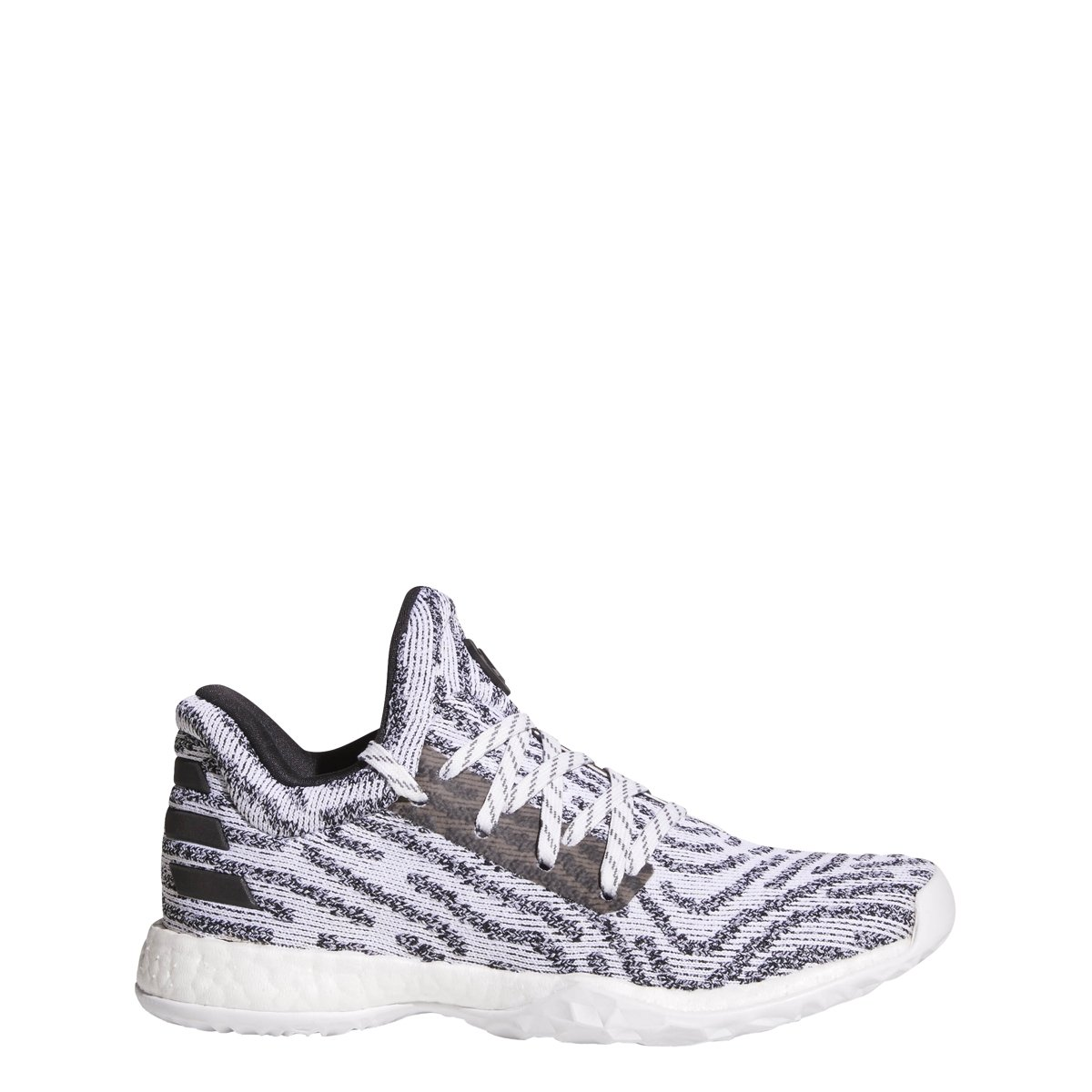 adidas Harden Vol. 1 LS Primeknit Shoe Juniors Basketball 4.5 White-Core Black-Grey by adidas