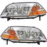 2001-2002-2003 Acura MDX Headlight Headlamp Halogen Composite Front Head Lamp Light Pair Set Left Driver AND Right Passenger Side (01 02 03)