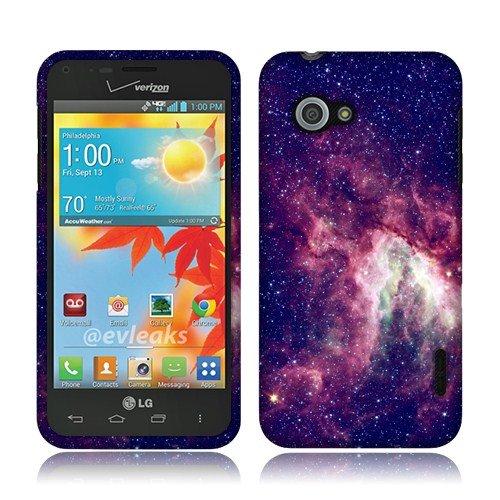 LG Enact VS890 Pink Stars Galaxy Nebula 2D Silver Glossy Cover
