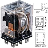 OMRON INDUSTRIAL AUTOMATION LY2-AC24 POWER RELAY, DPDT, 24VAC, 10A, PLUG IN (1 piece)