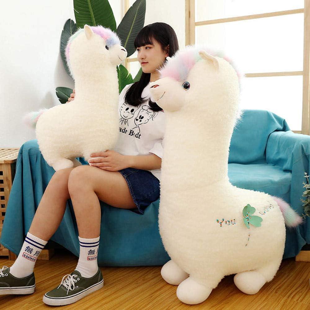 uictt Almohada de Felpa, Altura: 50 cm Linda muñeca de Alpaca Regalo de Novia Dios Animal Hierba Barro Caballo Almohada de Peluche para niños