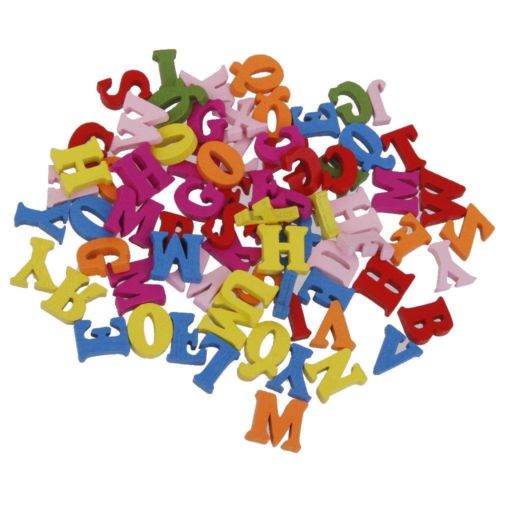 N/úmeros de Madera Azulejos de Scrabble N/úmeros Juguete Educativo para ni/ños 100 Paquete para Juegos de Mesa Marco de Boda Arte de Pared Reemplazo Artesan/ía Joyer/ía Scrapbooking