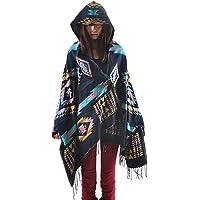 Zicac Womens Winter Cardigan Batwing Jacket Hooded Casual Stylish Loose Coat