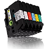 Greateam Compatible Label Tape Replacement for Brother P-Touch Label Tapes TZ131 TZ231 TZ431 TZ531 TZ631 TZ731 12mm 0.47…