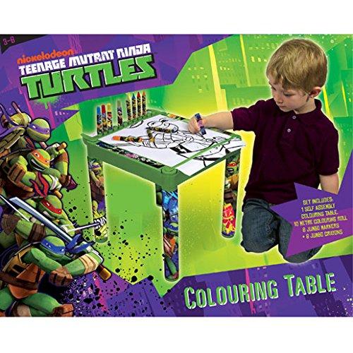 Tortugas Ninja - Escritorio/Mesa para Colorear: Amazon.es: Bebé