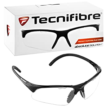 77b2d3fe09 Amazon.com   Tecnifibre Squash Racketball Protective Eyewear Glasses Goggles  - Black Frame   Sports   Outdoors