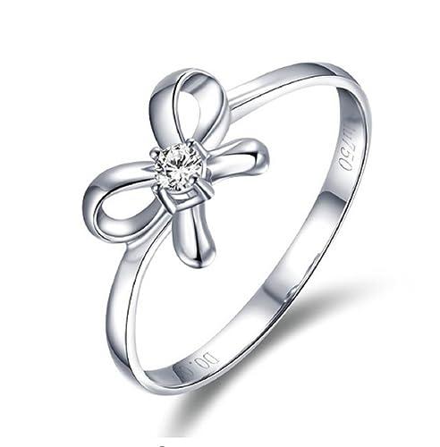 GOWE 18 K blanco y amarillo oro rosa anillo de diamantes anillo de matrimonio anillo con