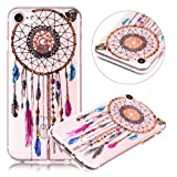 iPhone 5S Case, iPhone SE Case,PHEZEN Retro Aztec Dreamcatcher Design Ultra Thin Anti-Scratch Flexible TPU Gel Rubber Soft Skin Silicone Protective Case Cover For iPhone SE/5/5S
