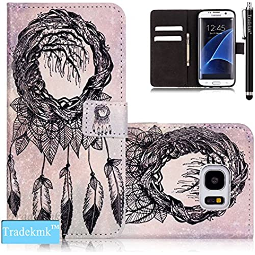 Galaxy S7 Edge Case,S7 Edge Case, Tradekmk(TM); PU Leather Card Holders And Stand Wallet Phone Case (Cute Pattern G) For Samsung Galaxy S7 Edge Sales