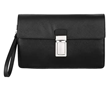 68131806418bb5 Prada Mens Document Holder Case in Black Saffiano Leather VR0092 F0002 W41:  Amazon.co.uk: Office Products