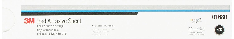3M 01679 Stikit Red 2-3//4 x 16-1//2 P80 Grit D Weight Abrasive Sheet