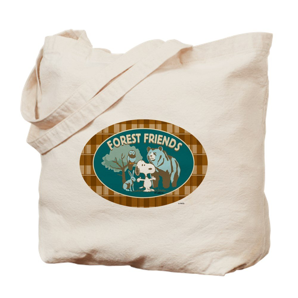 CafePress – Snoopy 's Forest Friends – ナチュラルキャンバストートバッグ、布ショッピングバッグ B015QDZGT0