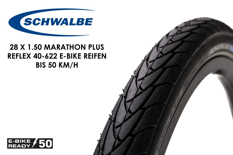 2 Stück Schwalbe Marathon Plus 37-622 HS440 Reflex Unplattbar 28 Zoll 700-35c