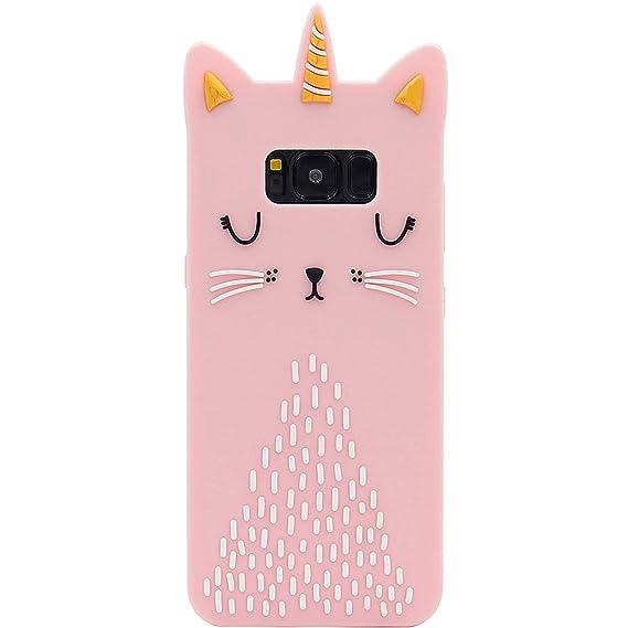 premium selection 584bb e1d1c Funermei Cat Unicorn Case for Samsung Galaxy S6,Silicone 3D Cartoon Design  Animal Pink Cover,Kids Girls Teens Cool Chic Cute Cases,Kawaii Soft Gel ...