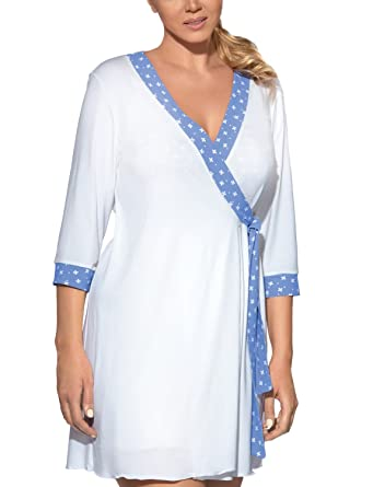 AVA PJ-20/P Womens Dressing Gown (Matching Nightdress Available ...
