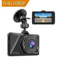 AKASO Caméra Voiture Embarquée Conduite Enregistreur, Full HD 3.0'' 1080P Surveillance Jour et Nuit, Dashcam Avant Grand Angle 170° avec Capteur-G, Détection de Mouvement, Parking Moniteur, WDR