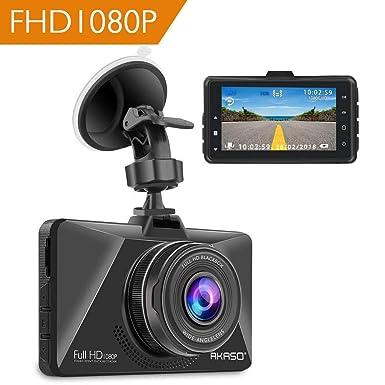 AKASO Cámara de Coche Dash CAM 1080P Full HD 170° Gran Ángulo Cámara para Coche