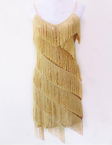 Gladiolus Damen Elegant Abendkleid Festlich Kleid Glitzer Vintage Ärmellos  Tanz Kleider Aprikose Gold Einheitsgröße  Amazon.de  Bekleidung 4e11b79718