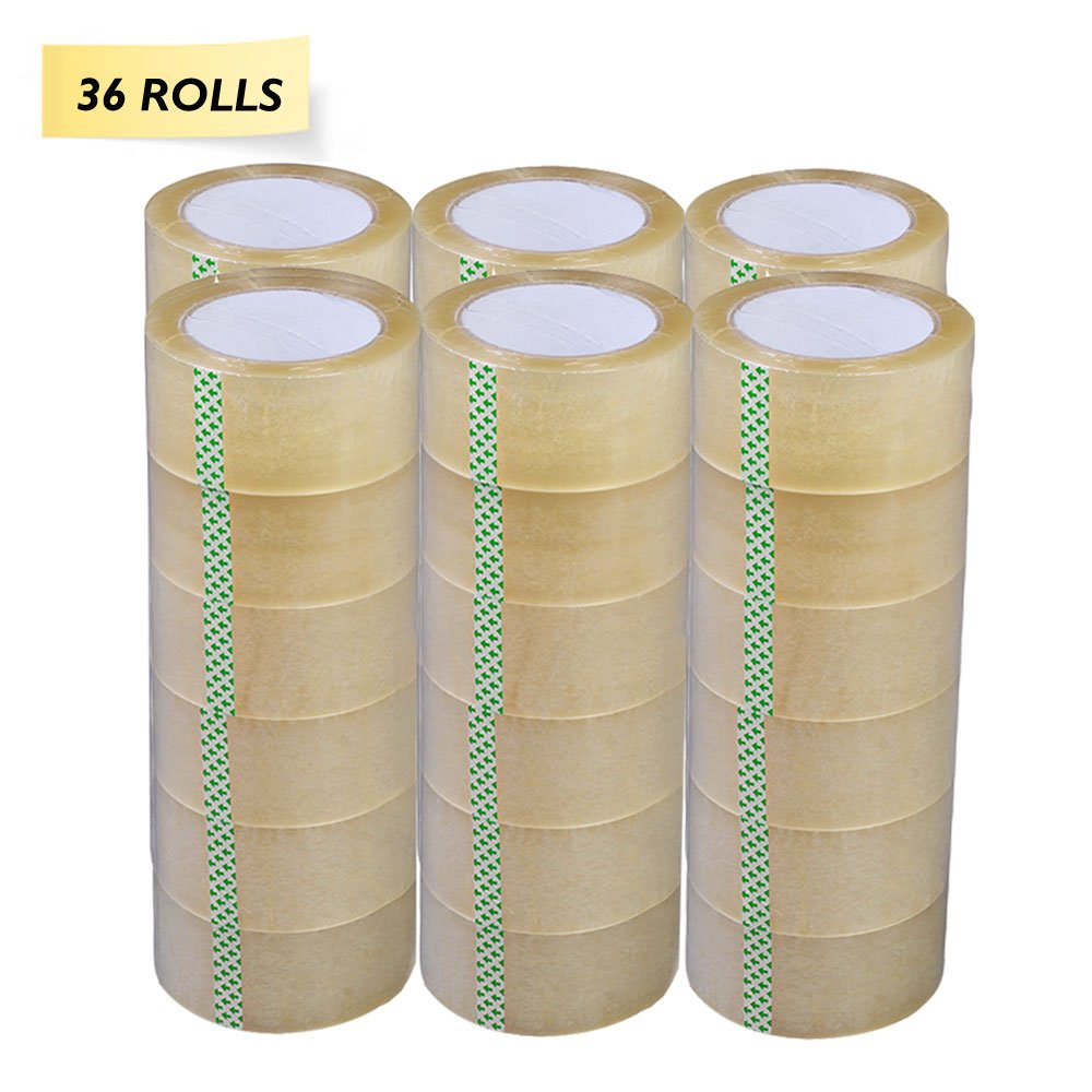 PARTYSAVING 36ROLLS 2'' X 110 Yards (330 ft) Clear Packing Shipping Storage Box Sealing Packaging Tape APL1256, 36 Rolls by PARTYSAVING