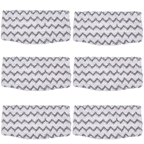 Amyehouse 6 Packs Dirt Grip Microfiber Pads Replacement for Shark Steam Mop S1000 S1000A S1000C S1000WM S1001C Vacuum Cleaners by Amyehouse