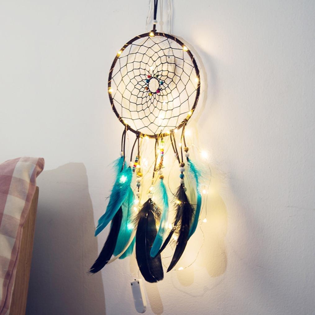 2CM 20 LED String Light, Dirance Dreamcatcher Copper Wire Fairy Night Light Lamp Festival Girl Bedroom Home Decor (B)