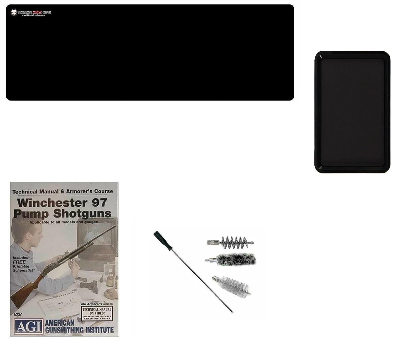 Amazon.com : Ultimate Arms Gear AGI DVD Manual & Armorer's Course Winchester  97 Pump Shotgun Gunsmith Cleaning Gun Mat + 12 Gauge Shotgun Cleaning Kit  Bore ...
