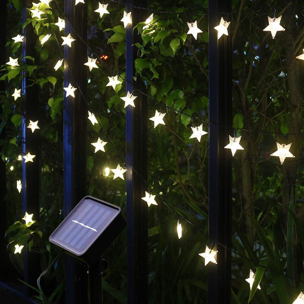 7M//23FT 50LED String Lights Solar Garden Path Yard Decor Lamp Outdoor Waterproof