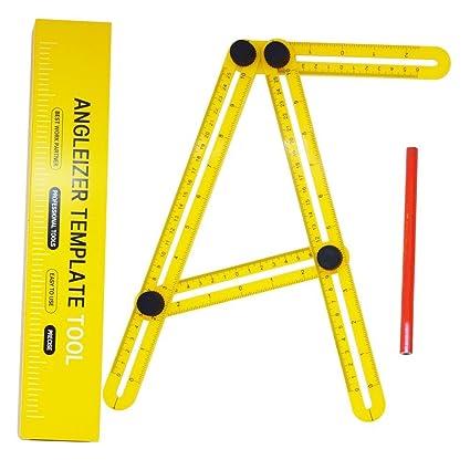 Angle Template Adjustable Square Tool Multi Angle Measuring Ruler