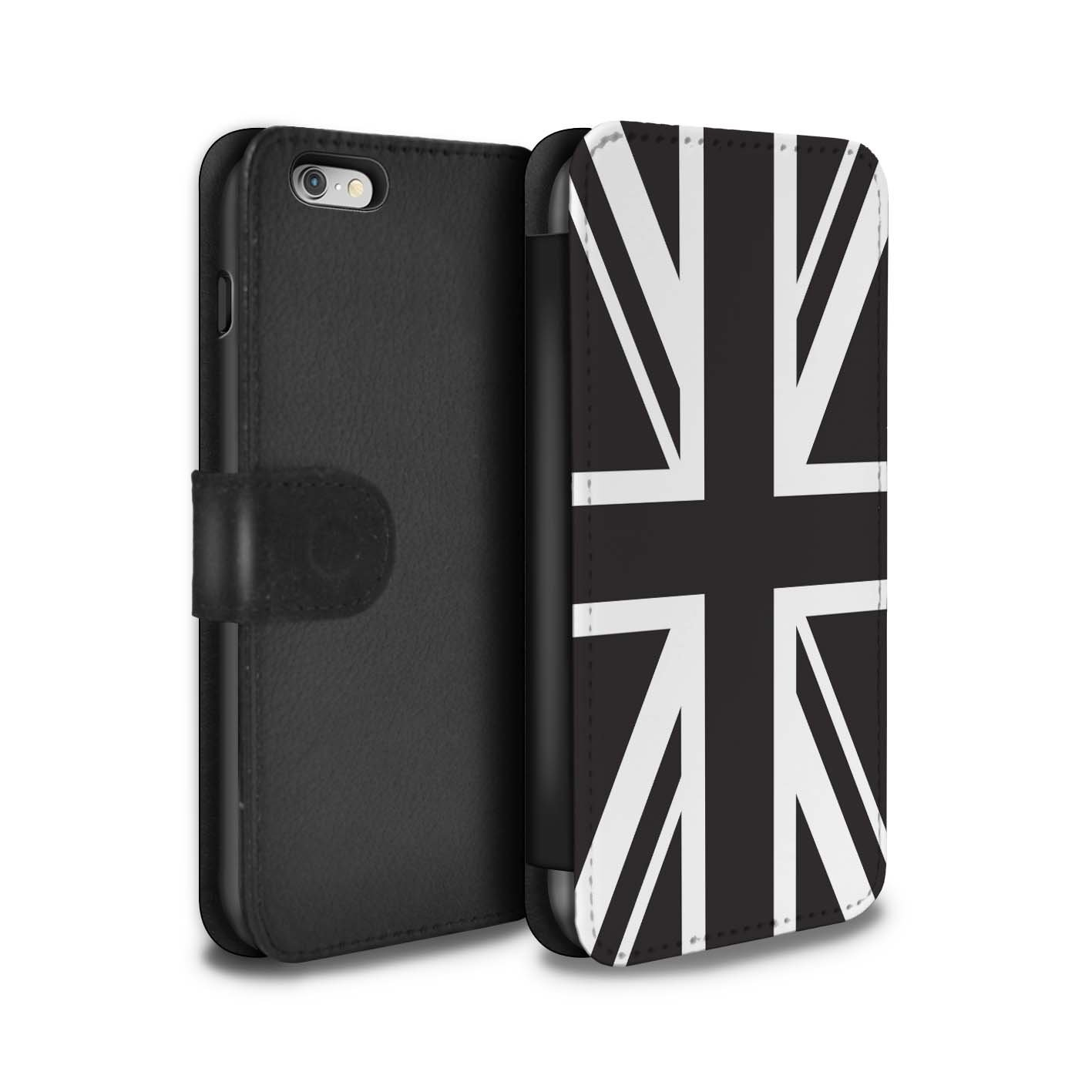 d613e83a200b STUFF4 PU Leather Wallet Flip Case Cover for Apple iPhone 6+ Plus 5.5    Union Jack Flag Design Great Britain British Pride Collection  Amazon.ca   Cell ...