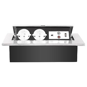 Favorit MVPOWER Bodensteckdose 2 Fach USB+Netzwerk Tischsteckdose KI86