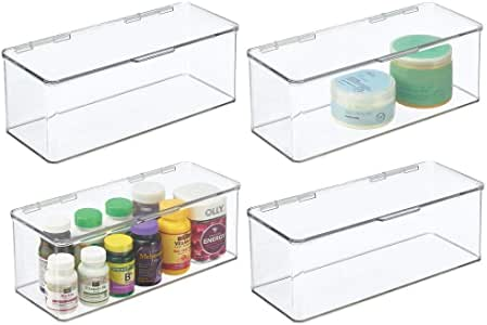 20 Pieces Clear Plastic Blade Storage Case Mini Storage Box for Home Office