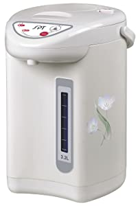 SPT SP-3201 Hot Water Dispenser with Dual-Pump System (3.2L), 10.2 x 10.2 x 13.4 Inch Off White