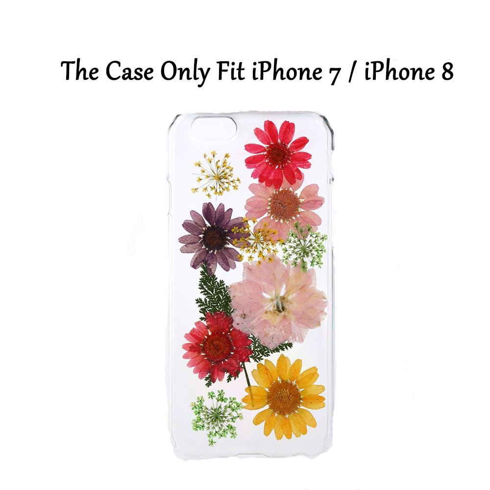 Amazon rebbygena iphone 8 case iphone 7 case pressed amazon rebbygena iphone 8 case iphone 7 case pressed sunflower iphone 7 case real flower phone case iphone 8 soft tpu silicone clear case with multi izmirmasajfo