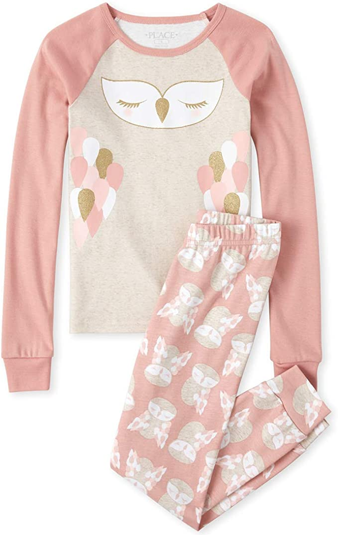 The Childrens Place Baby Girls 4 Piece Long Sleeve Pajama Set