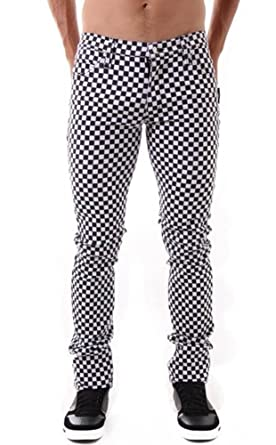 Tripp Exploited Gothic Punk Rocker Slim Checkered Skinny Jeans ...