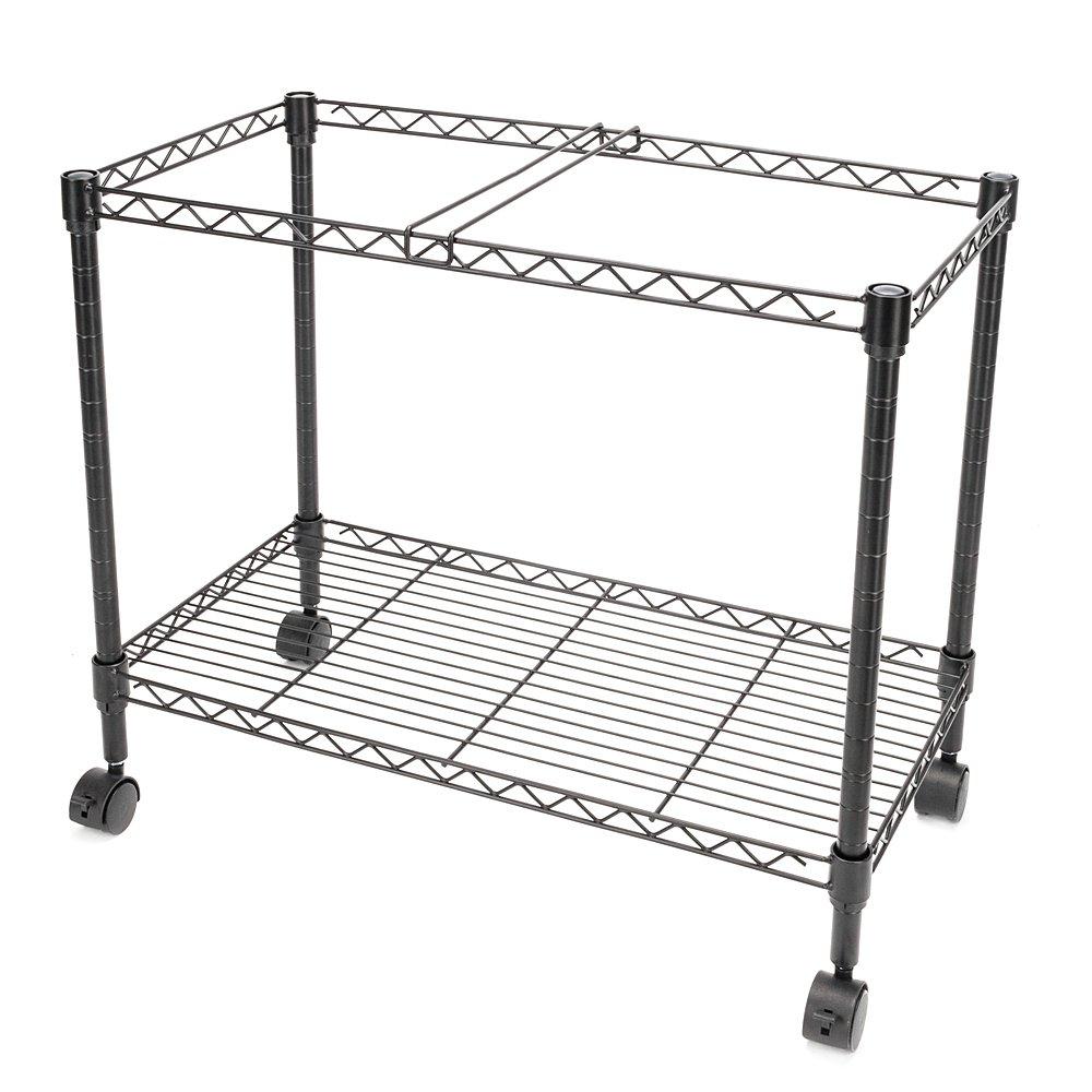 Zippem Single-Tier Rolling File Cart, 24w x 13d x 18h, Black (US Stock) by Zippem (Image #5)