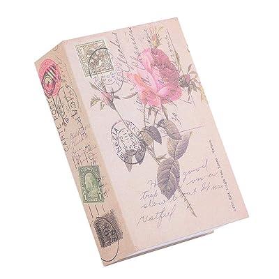 ASHATA Caja de Seguridad en Forma de Libro Portátil con Bloqueo de Contraseña para Dinero,Joyas o Cualquier Posesión,Safe Box Case Cerradura de Apariencia Simulación para Espacio Personal ((Rosa)): Electrónica