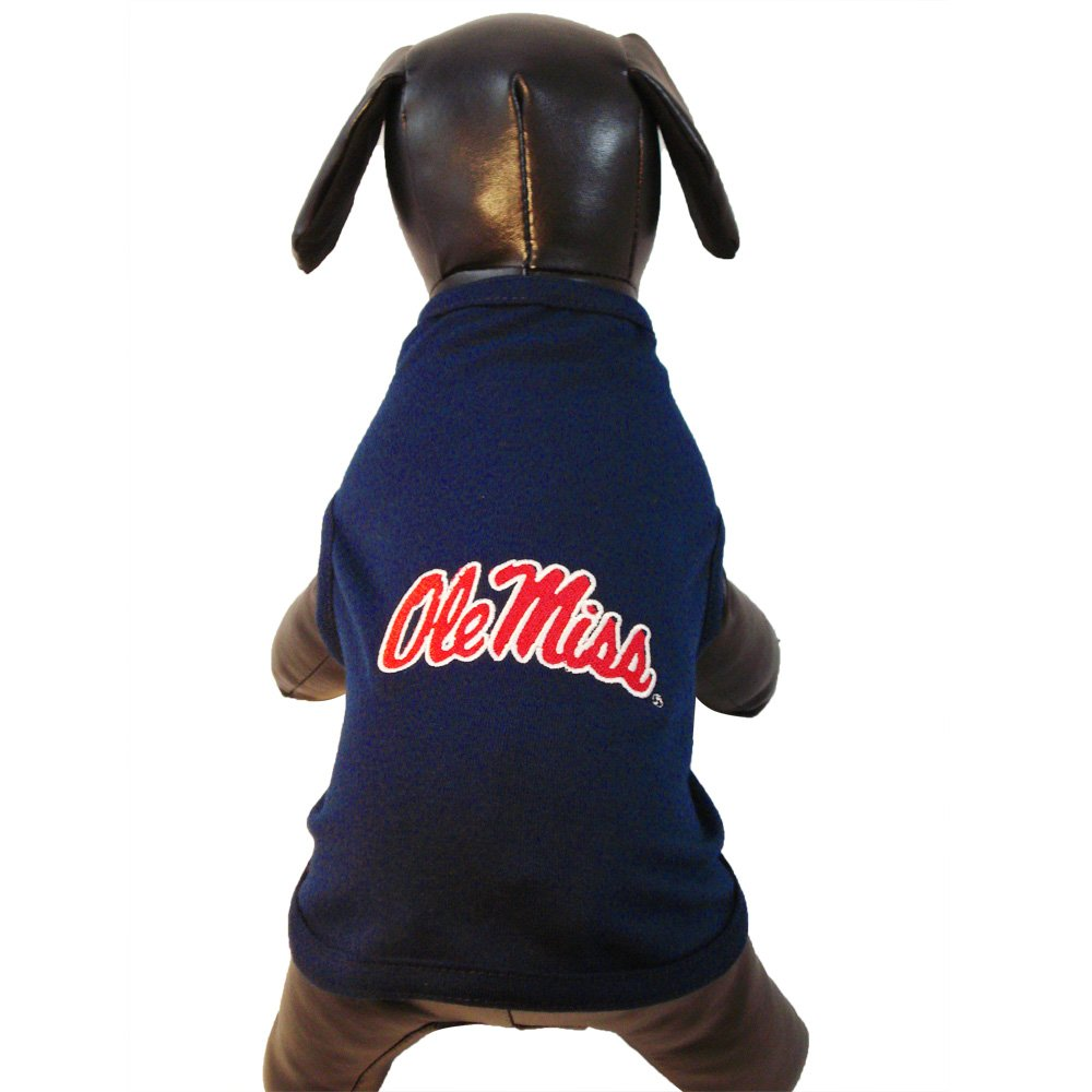 All Star Dogs NCAA Ole Miss Rebels Cotton Lycra Dog Tank Top, XX-Small