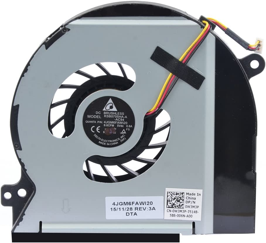 Eathtek Replacement CPU Cooling Fan for DELL XPS 15 L501X L502X DV5V W3M3P Series