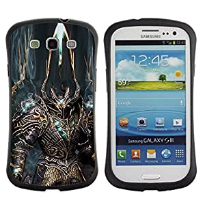 Suave TPU GEL Carcasa Funda Silicona Blando Estuche Caso de protección (para) Samsung Galaxy S3 I9300 / CECELL Phone case / / Robot Alien Warrior Sword Art Armour Blue /