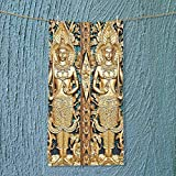 SOCOMIMI Lightweight Towel Collection Thai Gate at Wat Sirisa Tong Thailand Buddhism Architecture History Spiritual Picture for Home, Hotel and Spa