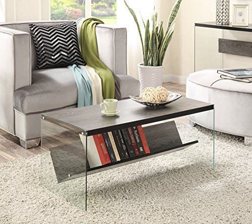 Convenience Concepts Soho Coffee Table, Weathered Gray Price