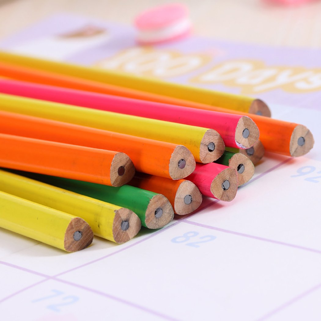 Funpa 50PCS Wood Pencil Colorful Pencil Sketch Pencil Wood Drawing Pencil for Primary Student by Funpa (Image #3)